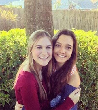 Estudiante de Ices, Nazareth, con su host sister