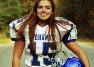 Estudiante de intercambio ICES praticando fútbol americano