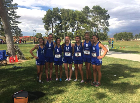 With my Cross Country team after the Regionals