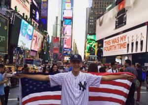 Alvaro, estudiante ICES en el seminario de Nueva York