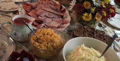 Tradicional cena de Acción de Gracias