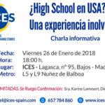 Estudiar en USA: Charla informativa – Viernes 26 de Enero de 2018