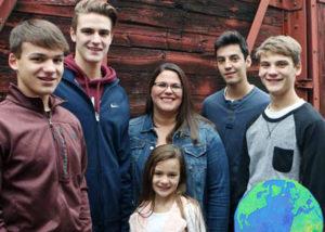 Samuel con su host family de Minnesota