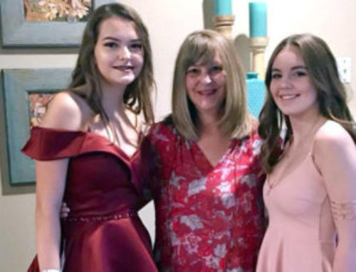 Sara – Iowa con su host sister y su host mum
