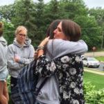 Camila en Arkansas con su familia americana, host family