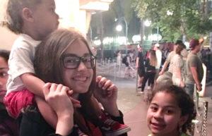 verano en USA, Carla con su familia de Los Ángeles