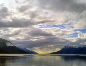 Atardecer en Alaska