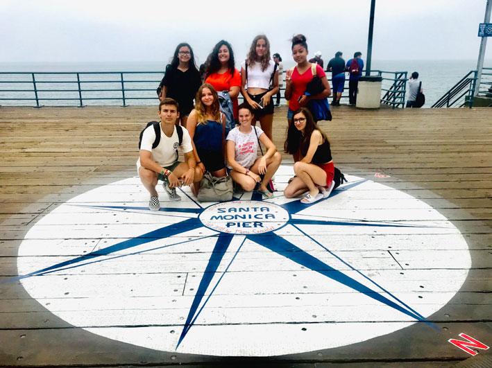 Estudiantes ICES en Santa Mónica Pier