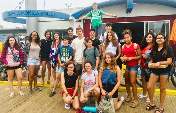 estudiantes de intercambio en verano