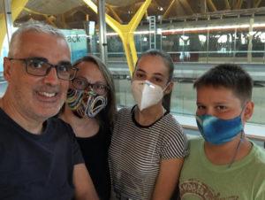 Sofía, despedida aeropuerto