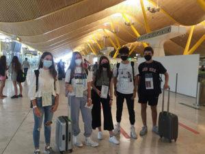 Paula, Marc y otros estudiantes ICES