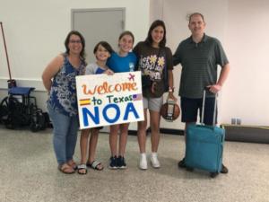 Bienvenida a Noa de su host family