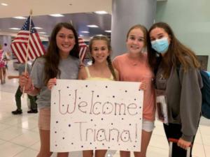 Triana en su llegada a Arizona
