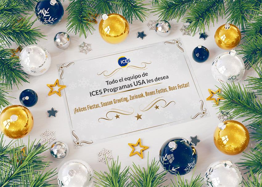 ICES Programas USA os desea Feliz Navidad