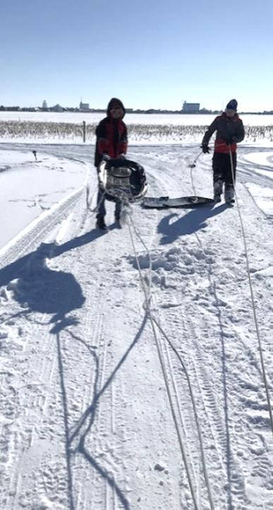 Laia en la nieve