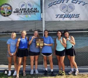 Equipo de tenis, año escolar en Estados Unidos