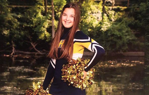 cheerleader año escolar en usa