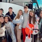 Lucía y sus amigos durante su experiencia de estudiante en Estados Unidos